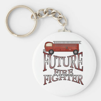 Fire Engine Future Firefighter T-shirts and Gifts Basic Round Button Keychain