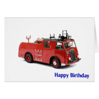 Fire Engine image for Birthday greeting card