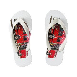Fire Engine image for Flip-Flops-Kids Kid's Flip Flops