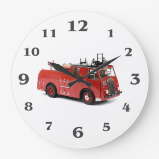 Fire Engine image for Round (Large) Wall Clock