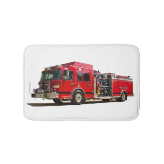 Fire Engine image for Small-Bath-Mat Bathroom Mat