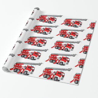 "Fire Engine image  Glossy Wrapping Paper, 30"" x 6'"