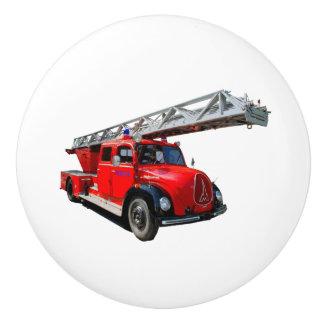 Fire engine of the 50erJahre Ceramic Knob
