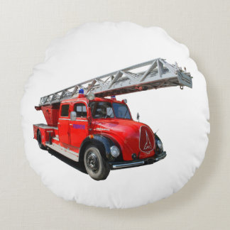 Fire engine of the 50erJahre Round Pillow