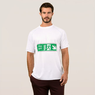 Fire Exit Sign Mens Active Tee