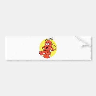 Fire Extinguisher Cartoon Bumper Sticker