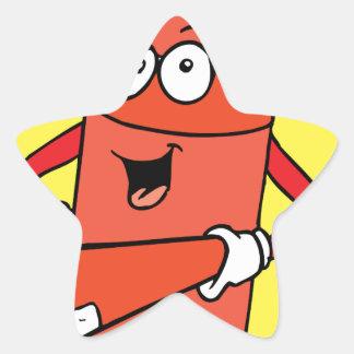 Fire Extinguisher Cartoon Star Sticker