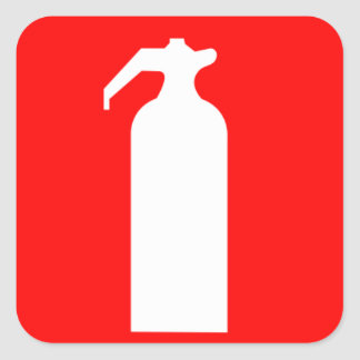 Fire Extinguisher Decals Square Sticker