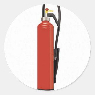 Fire extinguisher design round sticker