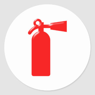 Fire extinguisher fire more extinguisher classic round sticker