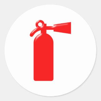 Fire extinguisher fire more extinguisher round sticker