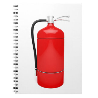 Fire extinguisher notebook