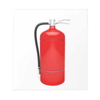 Fire extinguisher notepad