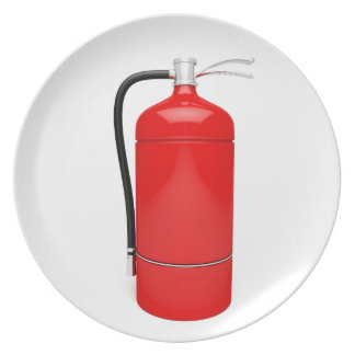 Fire extinguisher plate