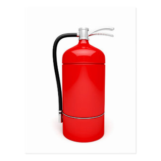 Fire extinguisher postcard