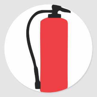 fire extinguisher round sticker