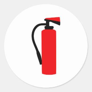 Fire extinguisher round stickers