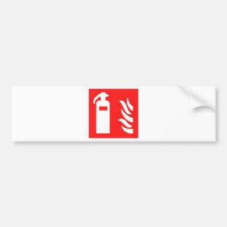 Fire Extinguisher Symbol Bumper Sticker