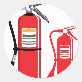 Fire extinguisher Vector Round Sticker