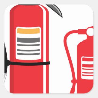 Fire extinguisher Vector Square Sticker