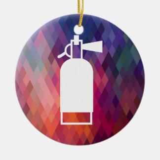 Fire Extinguishers Minimal Ceramic Ornament