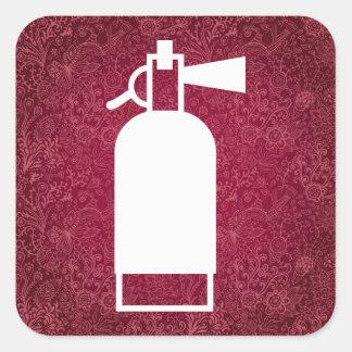 Fire Extinguishers Minimal Square Sticker