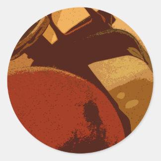 Fire Extinquisher Round Sticker