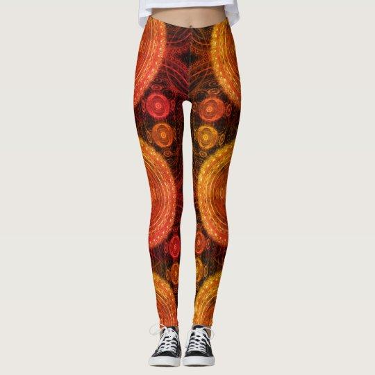 """""""Fire Eye"""" Custom Fractal Art Leggings"""
