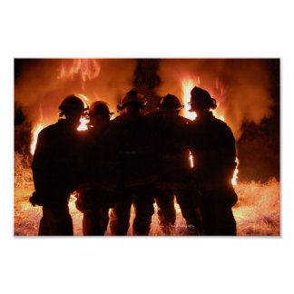Fire Family Firefighter Poster