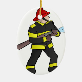 Fire Fight Ceramic Ornament