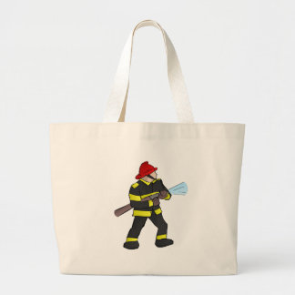 Fire Fight Large Tote Bag