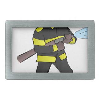 Fire Fight Rectangular Belt Buckles