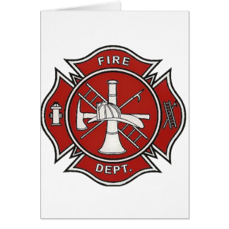 Fire Fighter Badge Card