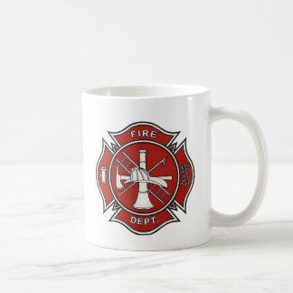 Fire Fighter Badge Classic White Coffee Mug