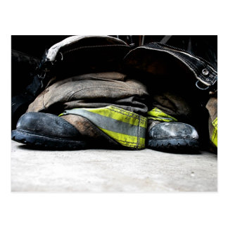 Fire Fighter Boots Postcard