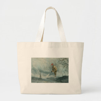 Fire Fighter Fireman Large Tote Bag