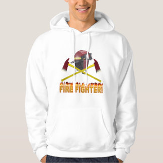 FIRE FIGHTER GEAR LOGO FLAMING TEXT HOODIE
