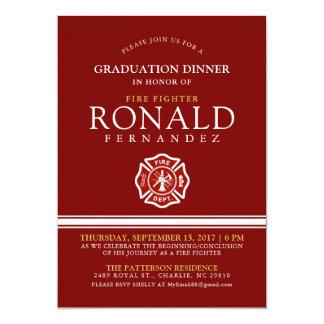 Fire Fighter Graduation Dinner   Event Invitation