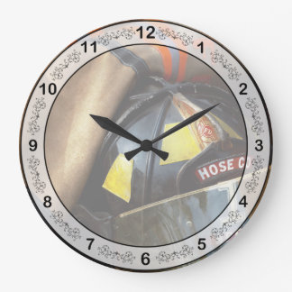 Fire Fighter - Hose company one Large Clock