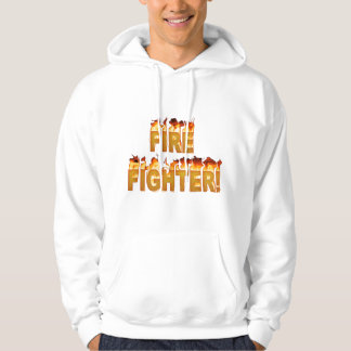 FIRE FIGHTER in Flames Hoodie