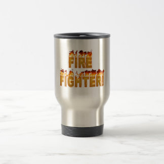 FIRE FIGHTER in Flames Travel Mug