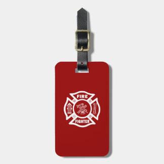 Fire Fighter Maltese Cross Luggage Tag
