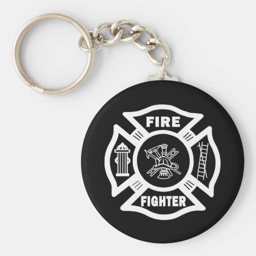 Fire Fighter Maltese Key Chain