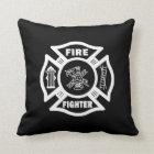 Fire Fighter Maltese Throw Pillow