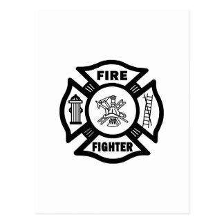 Fire Fighter Postcard