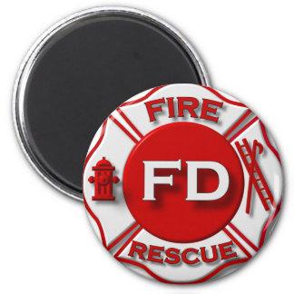 Fire Fighter Pride 2 Inch Round Magnet