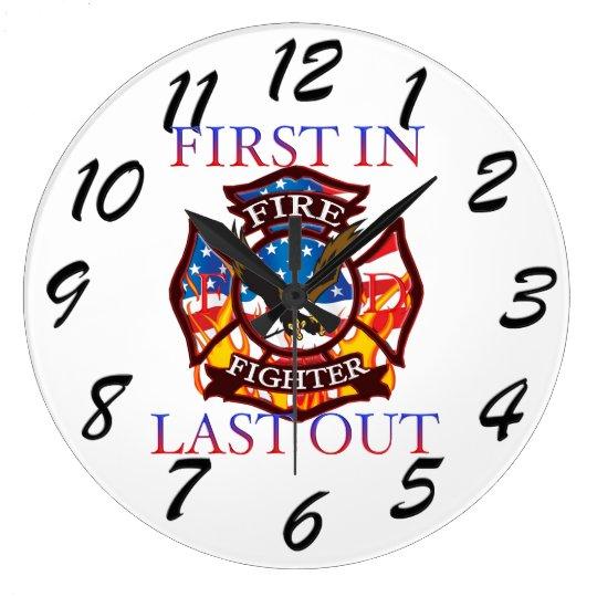 Fire Fighter Wall Clocks