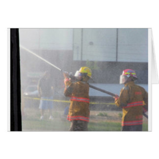 Fire Fighters at work Card