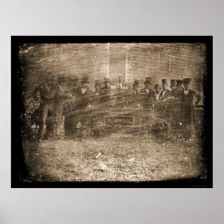 Fire Fighters Daguerreotype 1850 Poster