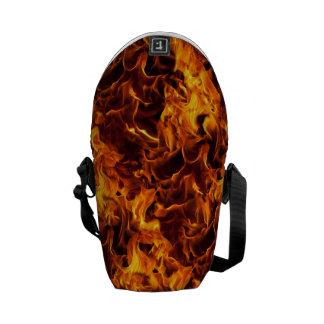 Fire / Flame Pattern Background Messenger Bag